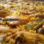 Detalle de una paella valenciana