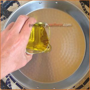 Aceite para conservar paella