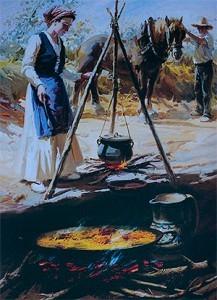 La Auténtica paella valenciana se cocina a Leña