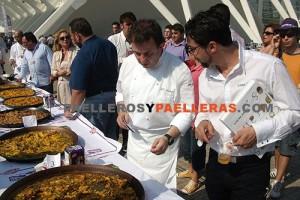 Martín Berasategui y Quique Dacosta en el concurso de Paellas