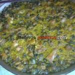 Paella de habas y alcachofas - Rafa Senabre Reche. Castelló de Rugat.